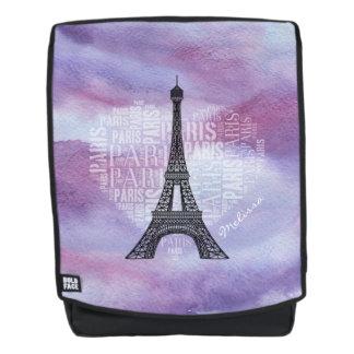 Eiffel Tower | Inscriptions Paris in Heart Backpack