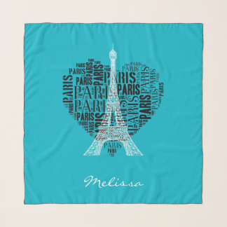 Eiffel Tower | Inscriptions Paris in Heart Scarf