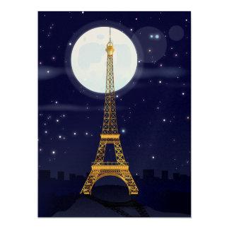 Eiffel Tower 6.5x8.75 Paper Invitation Card
