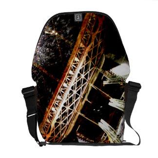 eiffel tower ironwork messenger bag