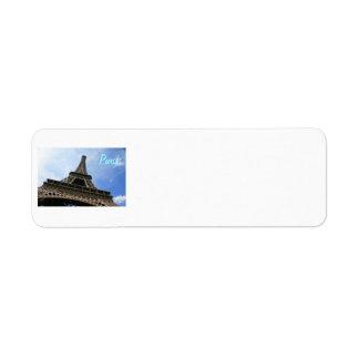 Eiffel Tower Label Return Address Label