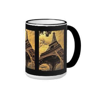 Eiffel Tower landmark Ringer Mug
