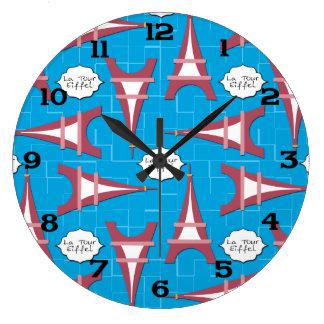 Eiffel Tower Large Clock