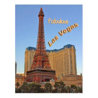 Eiffel Tower Las Vegas Postcard