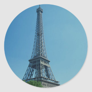Eiffel Tower Longshot Round Sticker
