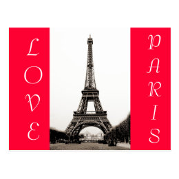Eiffel Tower - Love Paris Postcard