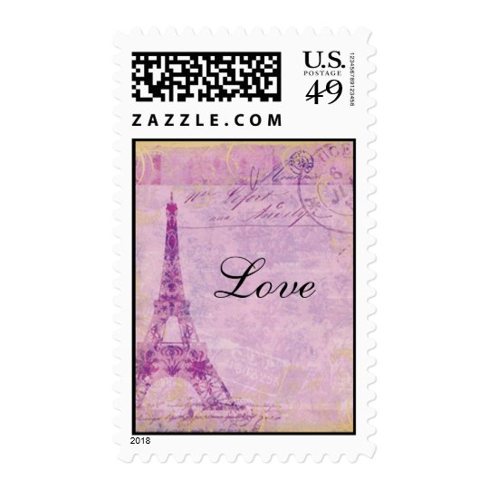 Eiffel Tower - Love Postage