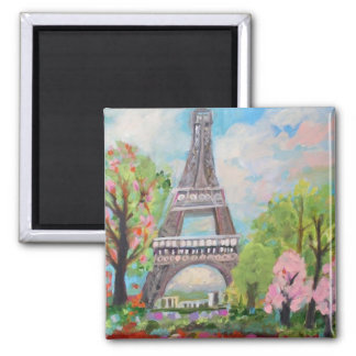Eiffel Tower Magnet by Karen Fields