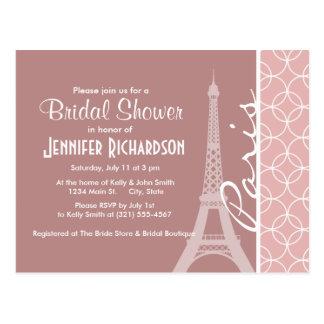Eiffel Tower; Mauve Circles Postcard
