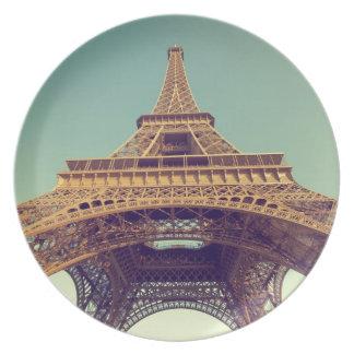 Eiffel tower melamine plate