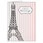 Eiffel Tower Merci Beaucoup Stationery Note Card