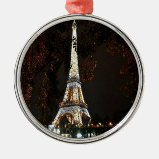 Eiffel Tower Metal Ornament