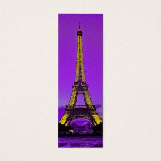 Eiffel tower mini business card