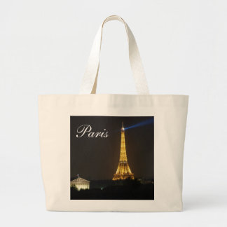 Eiffel Tower night Tote Bags