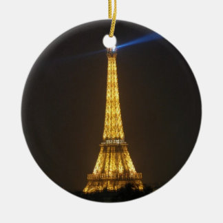Eiffel Tower night Ceramic Ornament
