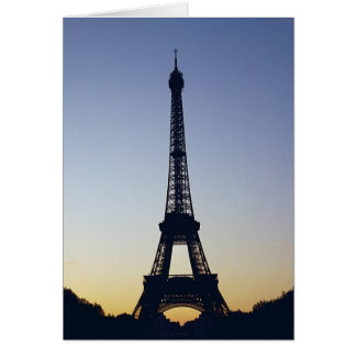 Eiffel Tower Night Greeting Card