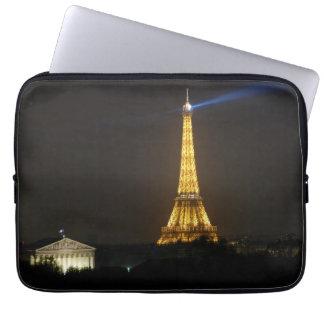 Eiffel Tower night Laptop Computer Sleeves