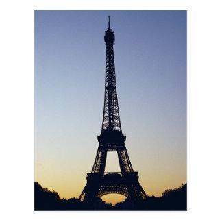 Eiffel Tower Night Postcard
