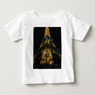 Eiffel Tower Nightime Yellow Lights - Paris,France Baby T-Shirt