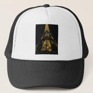 Eiffel Tower Nightime Yellow Lights - Paris,France Trucker Hat