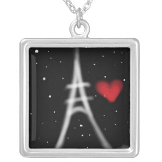 Eiffel Tower Nighttime Necklace