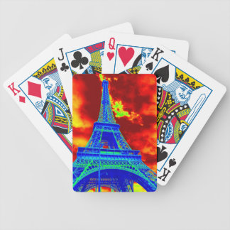 eiffel tower on fire bicycle playing cards