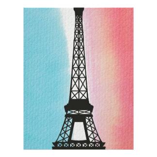 Eiffel Tower on Watercolour Background Letterhead