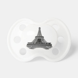 Eiffel Tower on White Background Pacifier