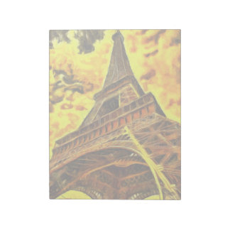 Eiffel tower painting note pads