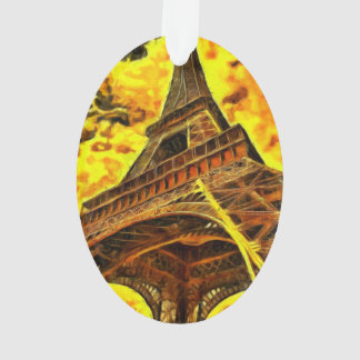 Eiffel tower painting ornament