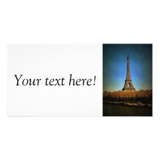 Eiffel Tower painting, Paris Photo Card