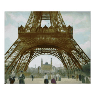 Eiffel Tower Painting Poster
