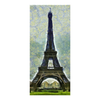 Eiffel tower painting rack card design