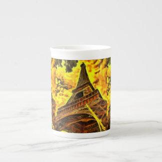 Eiffel tower painting porcelain mug