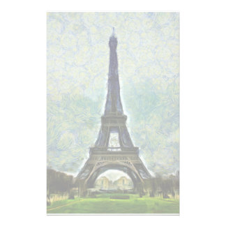 Eiffel tower painting stationery