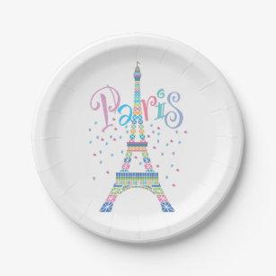 Eiffel Tower Paper Plates  sc 1 st  Zazzle & France Paris Eiffel Tower Plates | Zazzle