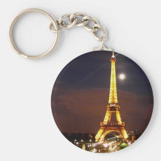 Eiffel_Tower_Paris_06 Basic Round Button Keychain