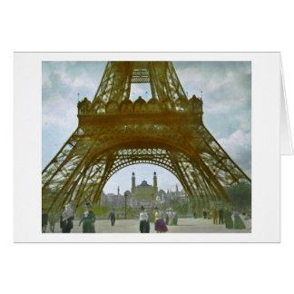 Eiffel Tower Paris 1900 Exposition Universelle Card