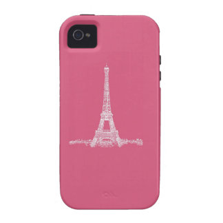 Eiffel Tower Paris Abstract Pink iPhone 4/4S Cases