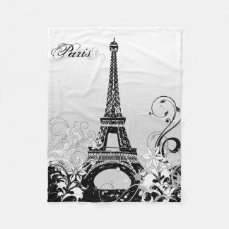 Eiffel Tower Paris (B/W) Fleece Blanket