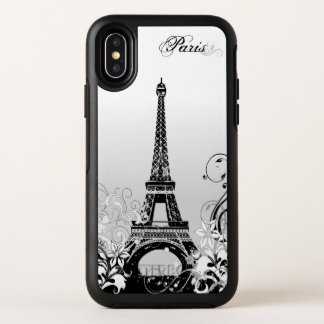 Eiffel Tower Paris B/W OtterBox iPhone X Case
