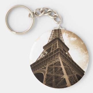 Eiffel tower Paris Basic Round Button Keychain