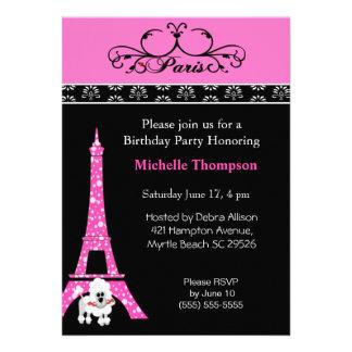 Eiffel Tower Paris  Birthday Invitations