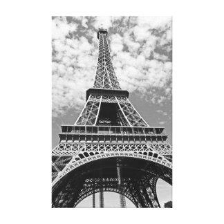Eiffel Tower Paris Black And White Art Photography Canvas Print