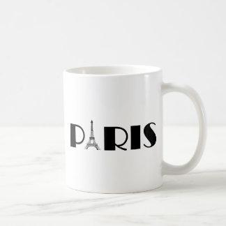 Eiffel Tower Paris Black & White Classic White Coffee Mug