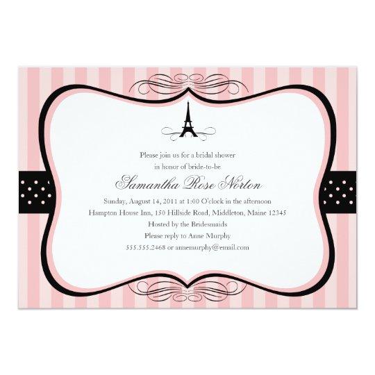 Eiffel Tower Paris Bridal Shower Card