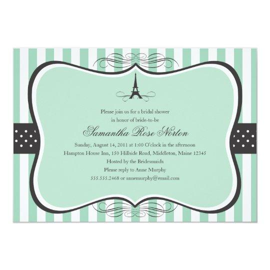 d1756df00112 Eiffel Tower Paris Bridal Shower Invitation