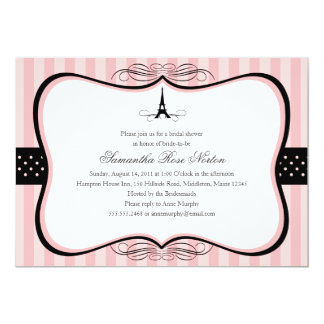 Eiffel Tower Paris Bridal Shower Cards