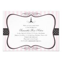 "Eiffel Tower Paris Bridal Shower 5"" X 7"" Invitation Card"