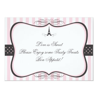 Eiffel Tower Paris Candy Sign Card